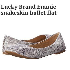 Lucky Brand snakeskin ballet flat